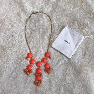 J.Crew Orange and Gold Bubble Necklace NWOT